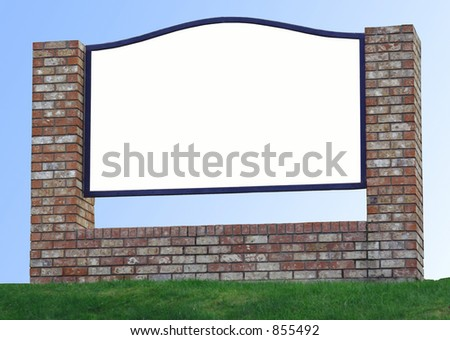 a blank sign isolated - stock photo