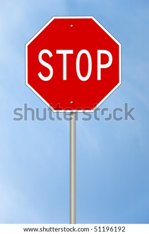 A blank stop sign