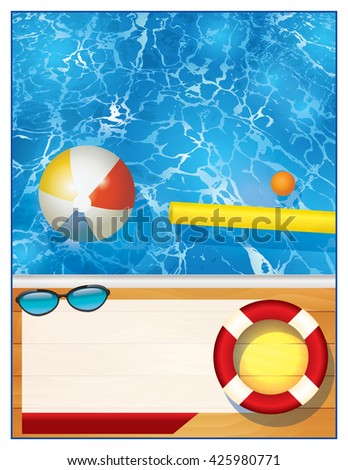 Swimming Pool Beach Ball Background pool party invitation stock images, royalty-free images & vectors