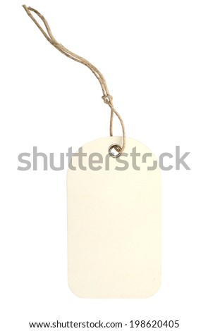 A blank white gift tag