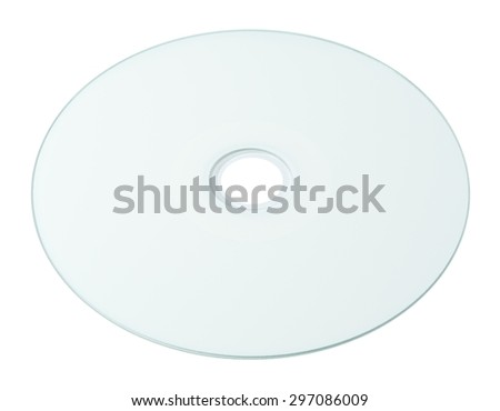 A Blank White Printable Surface CD or DVD Compact Disc Isolated on White Background. - stock photo