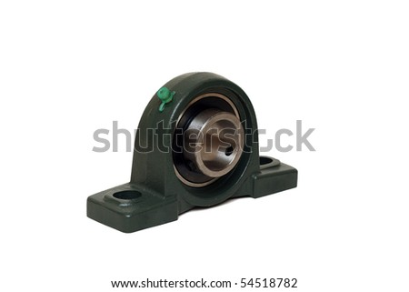 A block bearing with provisions for fixing it - stock photo