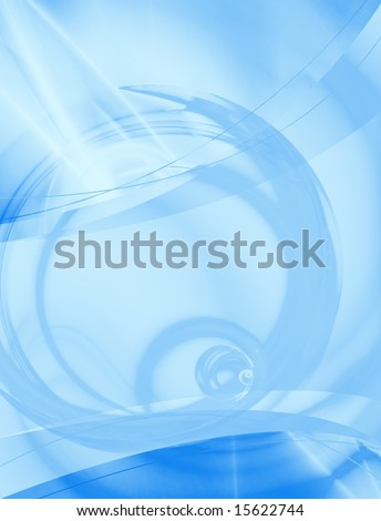 A blue abstract layout you can use as a template for any design piece. - stock photo