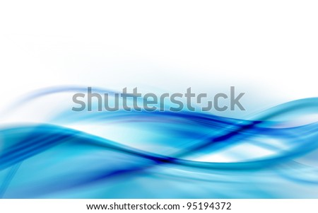 A blue abstract wave background - stock photo
