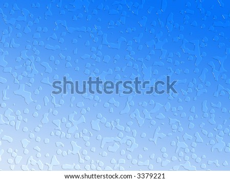 A blue background made of water drops