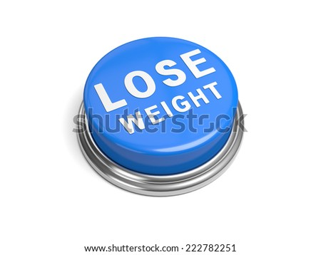 A blue button with the word lose weight on it - stock photo