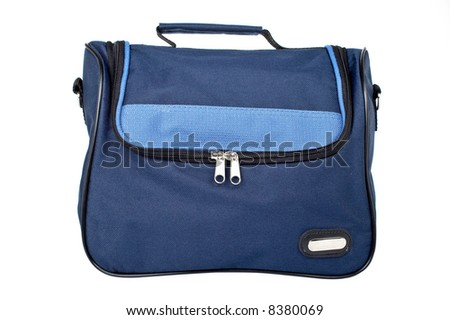 A blue handbag isolated on white background