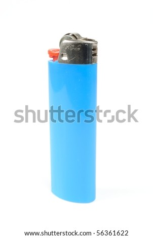 A blue lighter