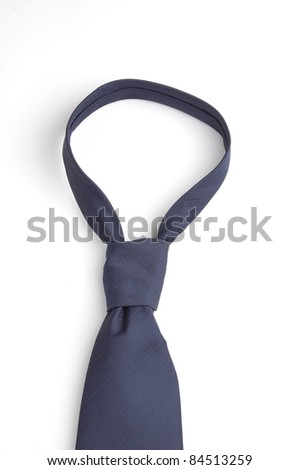 a blue necktie isolated on white - stock photo