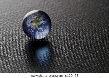 A Blue Pearl on black (Credit for the Blue Marble goes to NASA) Image found at http://visibleearth.nasa.gov/