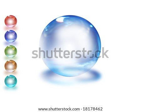 a blue sphere for web