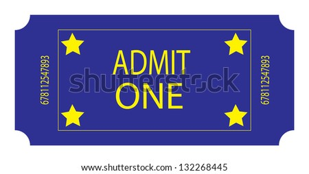 A Blue Ticket - stock photo