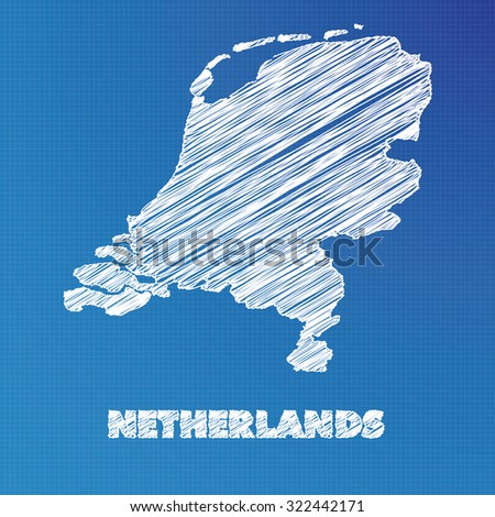 Blueprint netherlands stock images royalty free images vectors a blueprint map of the country of netherlands malvernweather Image collections