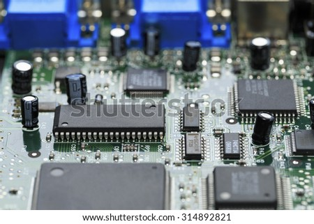 A board with processors - stock photo