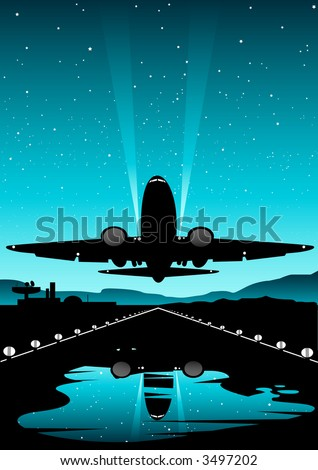 A Boeing plane taking off. - stock photo