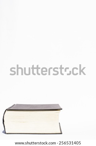 A book ready for reading and learning it - stock photo