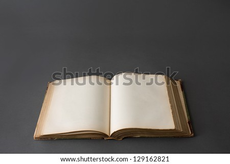 A Book Sitting Open - stock photo