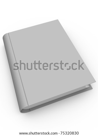 A book with a blank cover. Put your own text - stock photo