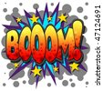 A Boom Comic Book Illustration Isolated on  White Background - stock photo