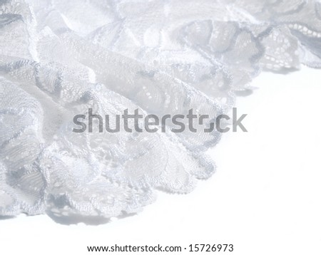 A border of white lace. - stock photo