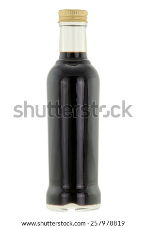 A bottle of Balsamic vinegar isolated on white background - stock photo