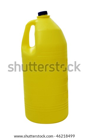 a bottle of bleach isolated on a white background