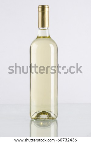A bottle of white wine - stock photo