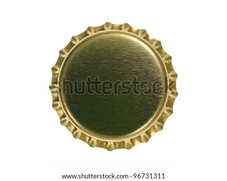 A bottle top isolated against a white background