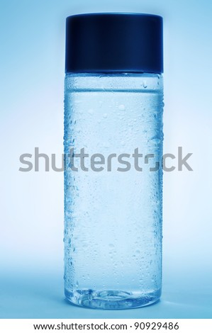 a bottle with fresh water