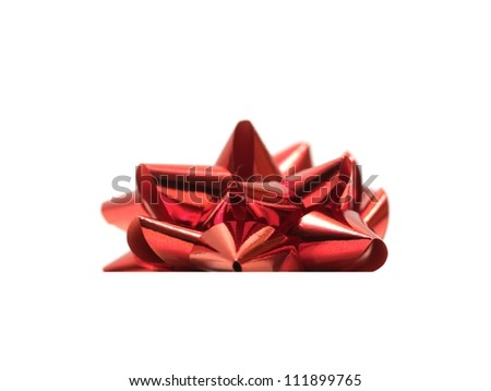 A bow isolated against a white background - stock photo