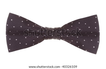 a bow-tie on white background - stock photo
