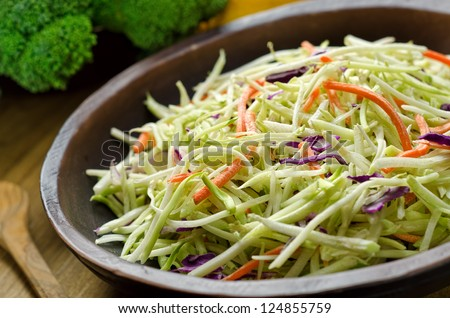 A bowl of crispy coleslaw. - stock photo