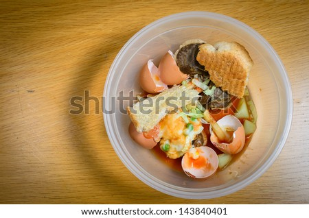 A bowl of food recycling waste - stock photo