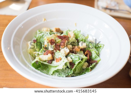 a bowl of salad - stock photo