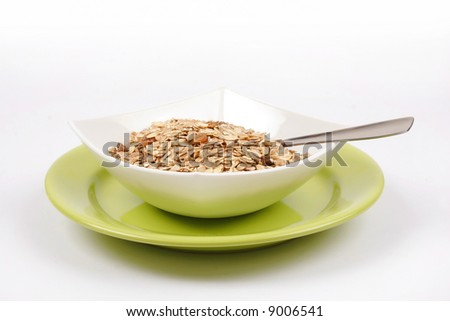 A bowl with cereals