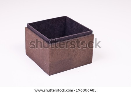 a box isolated on white. - stock photo