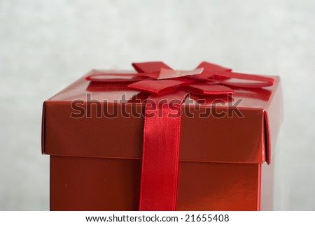 a box of gifts red