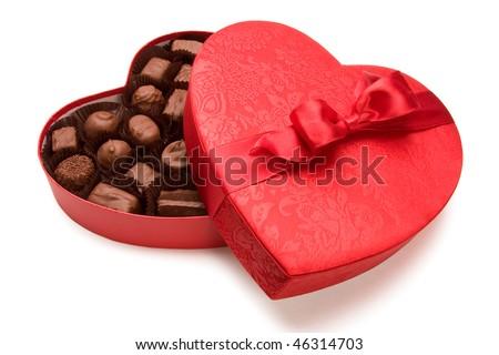 một hộp chocolate Valentine