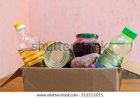 A box with food - stock photo