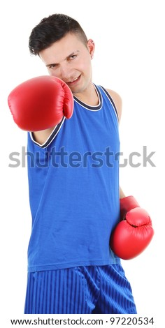 A boxer throwing a punch