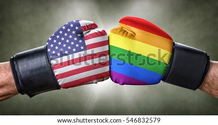 A boxing match between the USA and Homosexuality