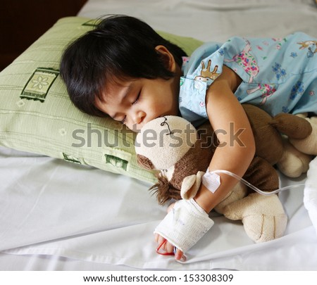 a boy has got sick. He needs fluid replacement.  - stock photo