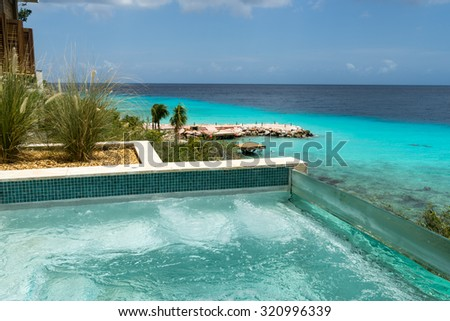 A brand new spa - Views around Curacao a Caribbean Island in the ABC islands - stock photo