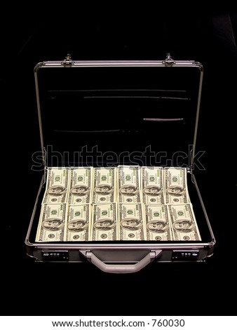 A briefcase full of cash