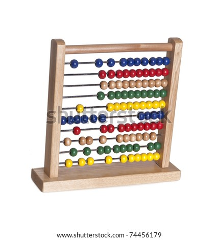 A bright and colorful abacus for children to count and learn isolated against white background