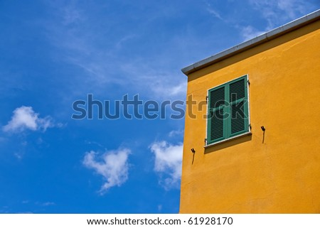 A bright and colorful house in Italy. - stock photo