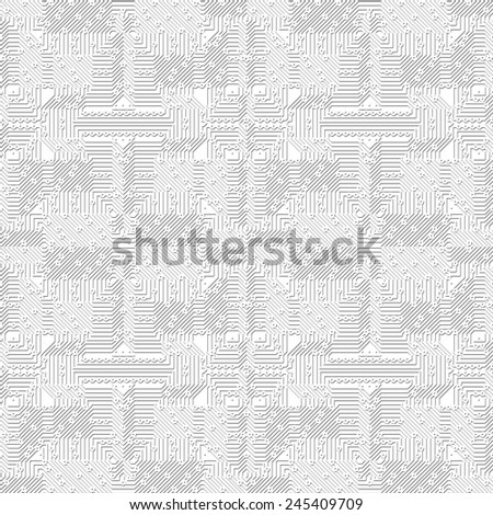 A bright background pattern with electronic circuit (Seamless-Tiling) - stock photo