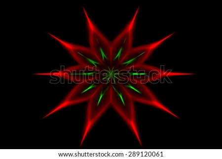 A bright exploding burst over a black background. - stock photo