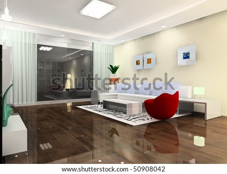 A bright living room design