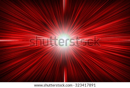 A bright red white background - stock photo